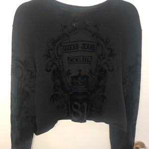 Vintage Guess cropped crew neck!!